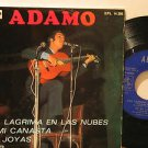 "ADAMO spain EP UNA LAGRIMA EN LAS NUBES 7"" French PICTURE SLEEVE EMI excellent"