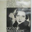 YVONNE PRINTEMPS usa LP LES TROIS VALSES Classical FLASH-MUSICAL excellent
