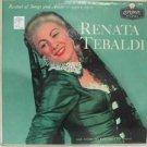 RENATA TEBALDI usa LP RECITAL OF SONGS & ARIAS Classical LONDON excellent