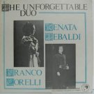 RENATA TEBALDI & FRANCO CORELLI usa LP THE UNFORGETTABLE DUO Classical LEGENDARY
