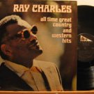 RAY CHARLES usa LP ALL TIME GREAT COUNTRY 2 LPS/FOLDOUT/PUNCHED HOLE ABC
