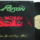 POISON latin america LP OPEN UP AND SAY AHH Rock LABEL IN SPANISH TOO EMI