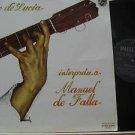 PACO DE LUCIA latin america LP INTERPRETA A MANUEL DE FALLA Reggae PHILIPS