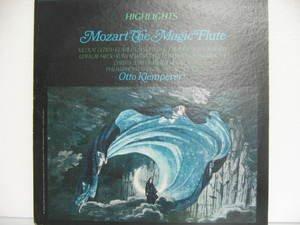 OTTO KLEMPERER usa LP MOZART THE MAGIC FLUTE HIGHLIGHTS Classical ANGEL excellen