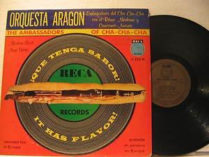 ORQUESTA ARAGON usa LP QUE TENGA SABOR Latin WRITING ON COVER RECA
