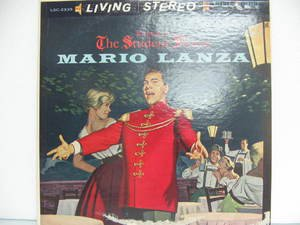 MARIO LANZA usa LP THE STUDENT PRINCE Classical RCA excellent