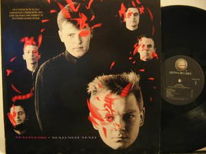 MADNESS usa LP MAD NOT MAD Rock PROMO GEFFEN excellent