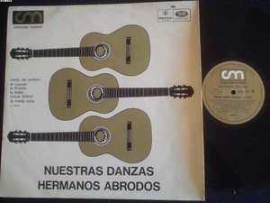 HERMANOS ABRODOS LP NUESTRAS DANZAS FOLK  ARGENTINA_546