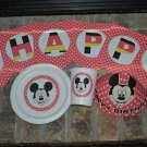 DISNEY MICKEY MOUSE PERSONALIZED PARTY SUPPLIES