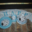 SNOOPY BLUE PERSONALIZED PARTY SUPPLIES