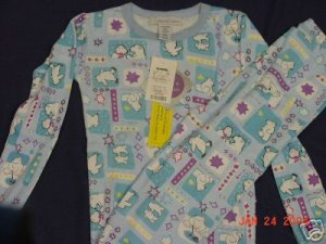 Girls Size 10 Blue Polar Bear