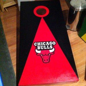 Pleasant New Birch Chicago Bulls Cornhole Boards Bean Bag Toss Game Evergreenethics Interior Chair Design Evergreenethicsorg
