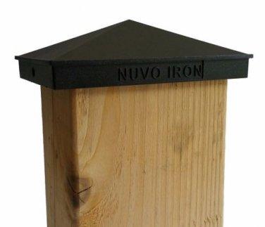 "NUVO IRON 4""x 6"" or 3.5""x 5.5"" PYRAMID ORNAMENTAL ALUMINIUM POST CAP PCP09"