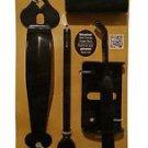 """Nuvo Iron Ornamental Thumb Latch 6"""" (152mm) Black Part # TL6BLK"""