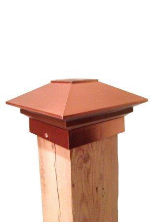 Nuvo Iron Solar Fence Post Light SPC27 - Plastic Copper Finish