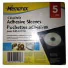 Memorex CD & DVD Adhesive Sleeves 5 Pack