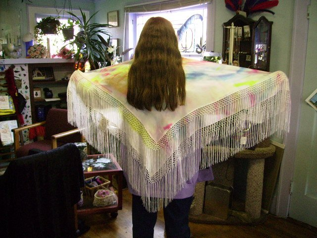 HAND DYED 100% SILK SHAWL