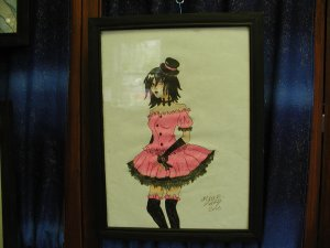 Gothic Lolita Original drawing by Artist Olivia Lette