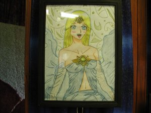 Spirit Original drawing by Artist Olivia Lette