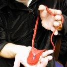 Red leather Spirit bag MAGIC BRAID Original Richard Garza Design