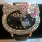 Heart Shaped Hello Kitty Watch (Black)