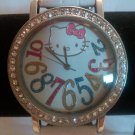 Hello Kitty Watch Dazzled Face (White)