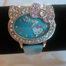 Hello Kitty Heart Shaped Watch (Blue)