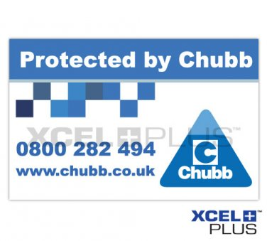 """Protected by Chubb"" Window and Door Sticker X3 PCS"