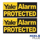 "3X Yale ""Alarm Protected"" HSA3000 Window & Door Security Alarm Warning Stickers"