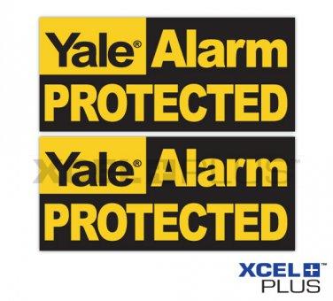 "2X Yale ""Alarm Protected"" HSA3000 Window & Door Security Alarm Warning Stickers"