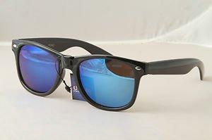 Retro 80s eighties throwback sunglasses Black frame mirrored lens vintage style