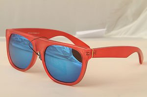 Funky Flat top Retro 80s style Sunglasses Mirrored lenses Rockstar ridiculous
