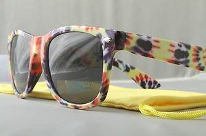 Retro TIE DYE hippie sunglasses Classic Purple yellow red 60s 70s 80s shades