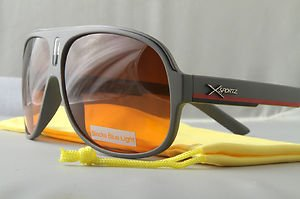 Gray Retro smooth operator aviator sunglasses Blue-Blocker hangover style *Pouch