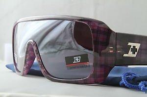 Purple Plaid FUNKY ski snowboard STUNNA aviator goggle style sunglasses retro
