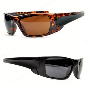 Biker Style wrap around sunglasses great for motorcycles beach gas can man shade
