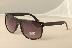 Black Retro optix sunglasses 80s classic UV400 trendy shades unisex large lens
