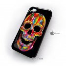 Cromatic Skull Design Art iPhone 4 Case , iPhone 4 Hard Cases