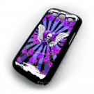 Skull & Roses Purple Design Art Samsung Galaxy S3 i9300 case