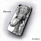 ornate elephant iphone case 4,4g,4s Cover Cases