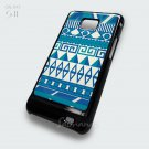 Aztec Blue Pattern Color Samsung Galaxy S2 Cover Case