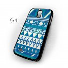 Aztec Blue Pattern Color Samsung Galaxy S4Cover Case