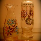 vintage blue & gold vases, the perfect pair