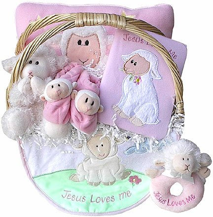 Jesus Loves Me Baby Gift Basket (Boy or Girl) * Clearance Item *