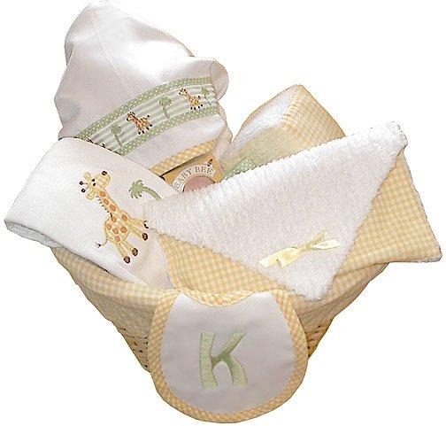 Monogrammed Giraffe Baby Gift Basket