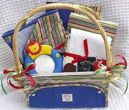 Stripeadelic Baby Gift Basket