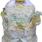 2-Tier Neutral, Boy or Girl Diaper Cake