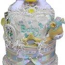 2-Tier Neutral, Boy or Girl Diaper Cake