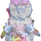 Triplets Diaper Cake (Boys, Girls, Combinations or Neutral)