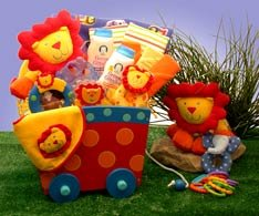 Silly Circus Baby Wagon Gift Set